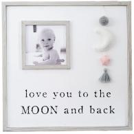 Love you to the moon and back frame {pink & blue} -$38.95