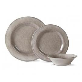 Dinner Plate- $15.00, Salad Plate- $12.00, Bowl- $12.00, 3 Piece Place Setting- $35.00