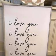 I love you canvas- $75.95