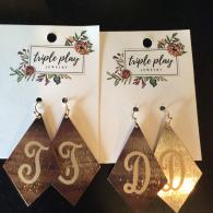 Initial Earrings- $21.95 Each